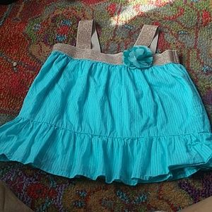 Gymboree teal & gold tank top  never worn